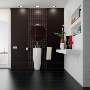 Biel i czerń na różnych formatach – płytki ceramiczne Touch firmy Ceracasa. Fot. Ceracasa.