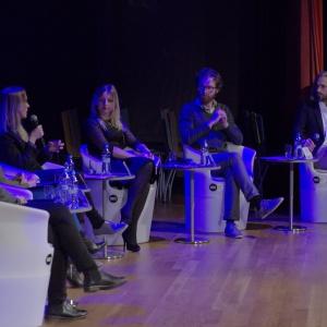 W trakcie panelu dyskutowano m.in. o promowaniu własnej marki w social mediach. Fot. Piotr Waniorek.