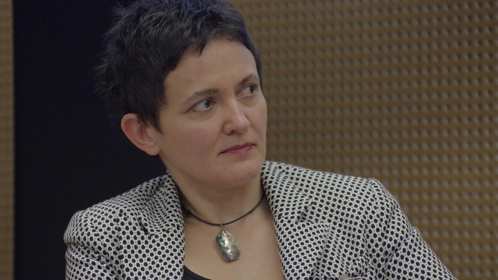 Dr Magdalena Berlińska, designer i kierownik Zakładu Wzornictwa Instytutu Wzornictwa Politechniki Koszalińskiej była jedną z panelistek biorących udział w dyskusji o nomadyzmie. Fot. Piotr Waniorek.