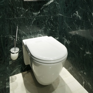 Sedes to model powieszany o klasycznym kształcie. Ma wymiary przystosowane do instalacji w małych łazienkach. Fot. Bartosz Jarosz.