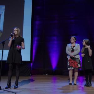 Nagrodę przyznaną przez konsumentów odebrała Magdalena Sławska z firmy Klafs. Fot. Piotr Waniorek.