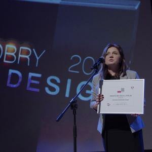 Wyróżnienie w kategorii przestrzeń łazienki - dyplom odebrała Honorata Broniowska, przedstawiciel firmy Dornbracht w Polsce. Fot. Piotr Waniorek.