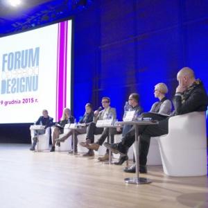 """Panel """"W domu jak w biurze, w biurze jak w domu"""" odbył się w ramach III Forum Dobrego Designu. Fot. Piotr Waniorek."""