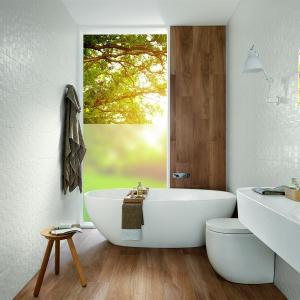 Ze wzorem białej, wypukłej mozaiki - płytki ceramiczne Lumina firmy Fap Ceramiche. Fot. Fap Ceramiche.