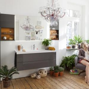 Wykonane z materiałów odpornych na wilgoć - meble łazienkowe Conceptwall firmy Burgbad. Fot. Burgbad.