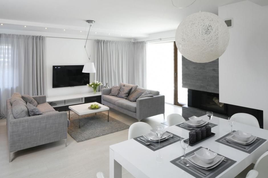 eleganckie wn trze salon z kuchni i jadalni najpi kniejsze realizacje strona 15. Black Bedroom Furniture Sets. Home Design Ideas