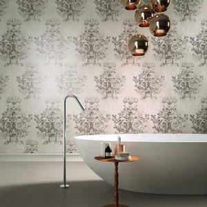 Jak piękna, beżowa tkanina - płytki ceramiczne Canvas marki Ariane. Fot. Ariane.