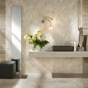 Stylizacja kamienia w kolorze cappuccino - płytki ceramiczne Imperial firmy NovaBell. Fot. NovaBell.