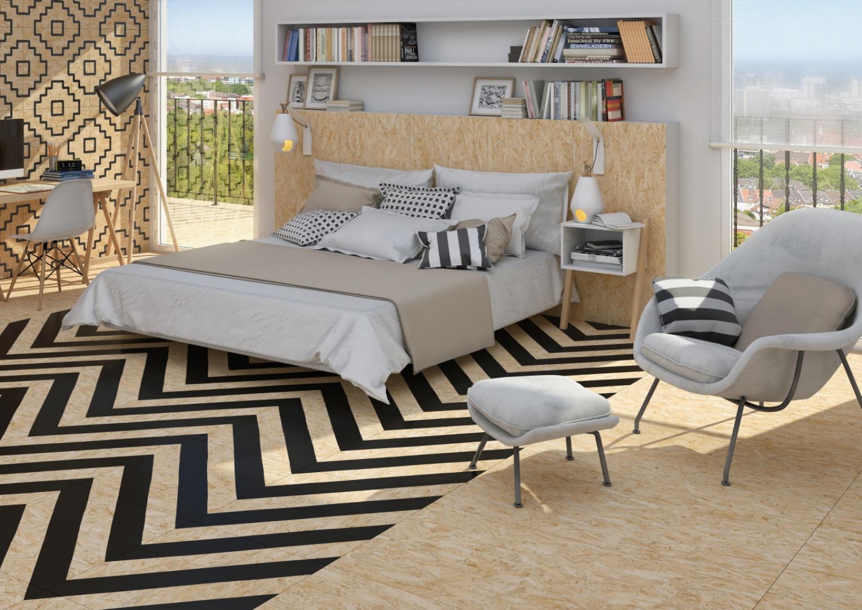 Duża ilość poduszek to sprawdzony sposób na ciekawą aranżację łóżka. Poduszki z jednej kolekcji i w jednym kolorze sprawią, że sypialnia będzie wydawała się poprawna i uporządkowana, zaś różnokolorowe nadadzą jej charakteru. Fot. Vives Ceramica.