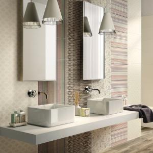 W różne, tkaninowe wzory do dowolnego łączenia - płytki ceramiczne Mush-Up firmy Ceramica Imola. Fot.  Ceramica Imola.