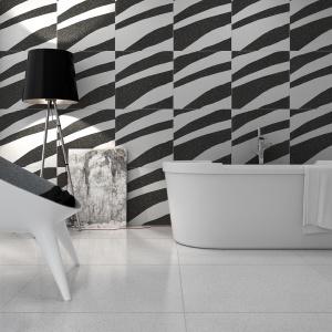 Stylizowane na zebrę - płytki ceramiczne Terratec firmy Apavisa. Fot. Apavisa.