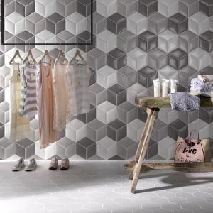 Wyglądają na skórzana tapicerka - płytki ceramiczne Cushion firmy Tonalite. Fot. Tonalite.
