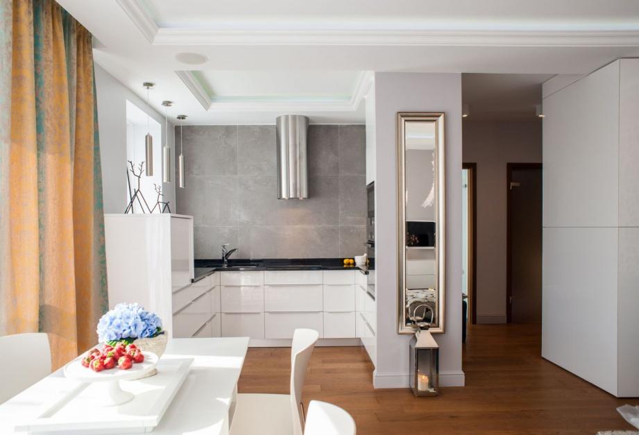 Otwarcie kuchni na jadalnię Mała kuchnia w bloku 12   -> Mala Kuchnia Aranżacja Wnetrza