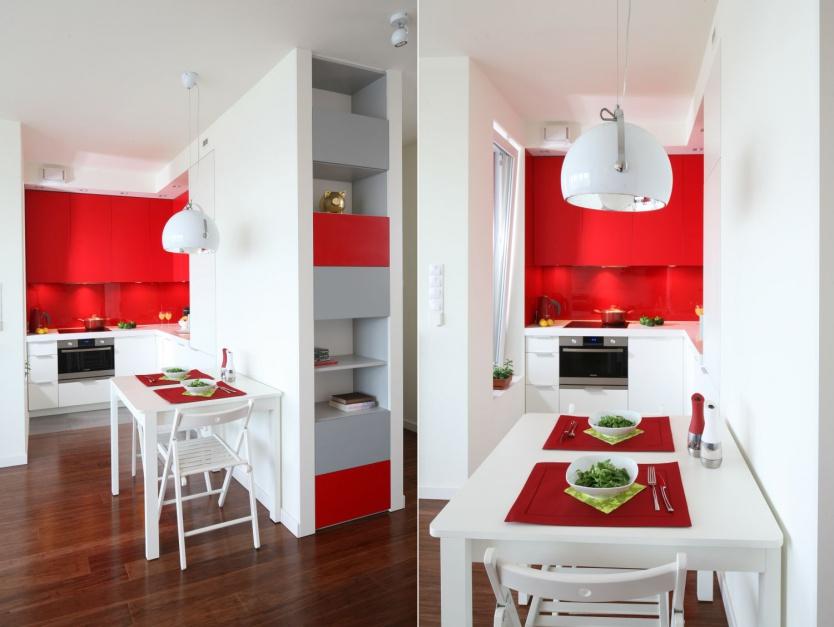 Bardzo niewielka kuchnia Mała kuchnia w bloku 12 wnętrz z polskich domó   -> Mala Kuchnia W Bloku Inspiracje
