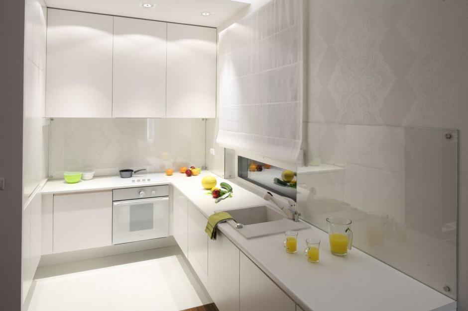 Urządzenie kuchni Mała kuchnia w bloku 12 wnętrz z   -> Mala Kuchnia Aranżacje Wnetrz