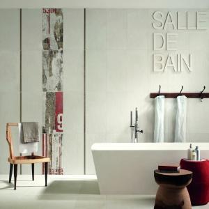 Biel do zestawiania np. z muralowymi dekoracjami - płytki ceramiczne White Murales marki ABK. Fot. ABK.