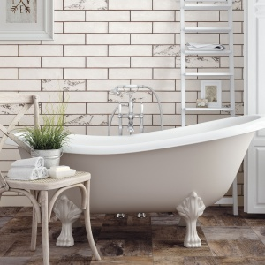 Jak białe cegły - płytki ceramiczne Agrila Vintage firmy Peronda. Fot. Peronda.