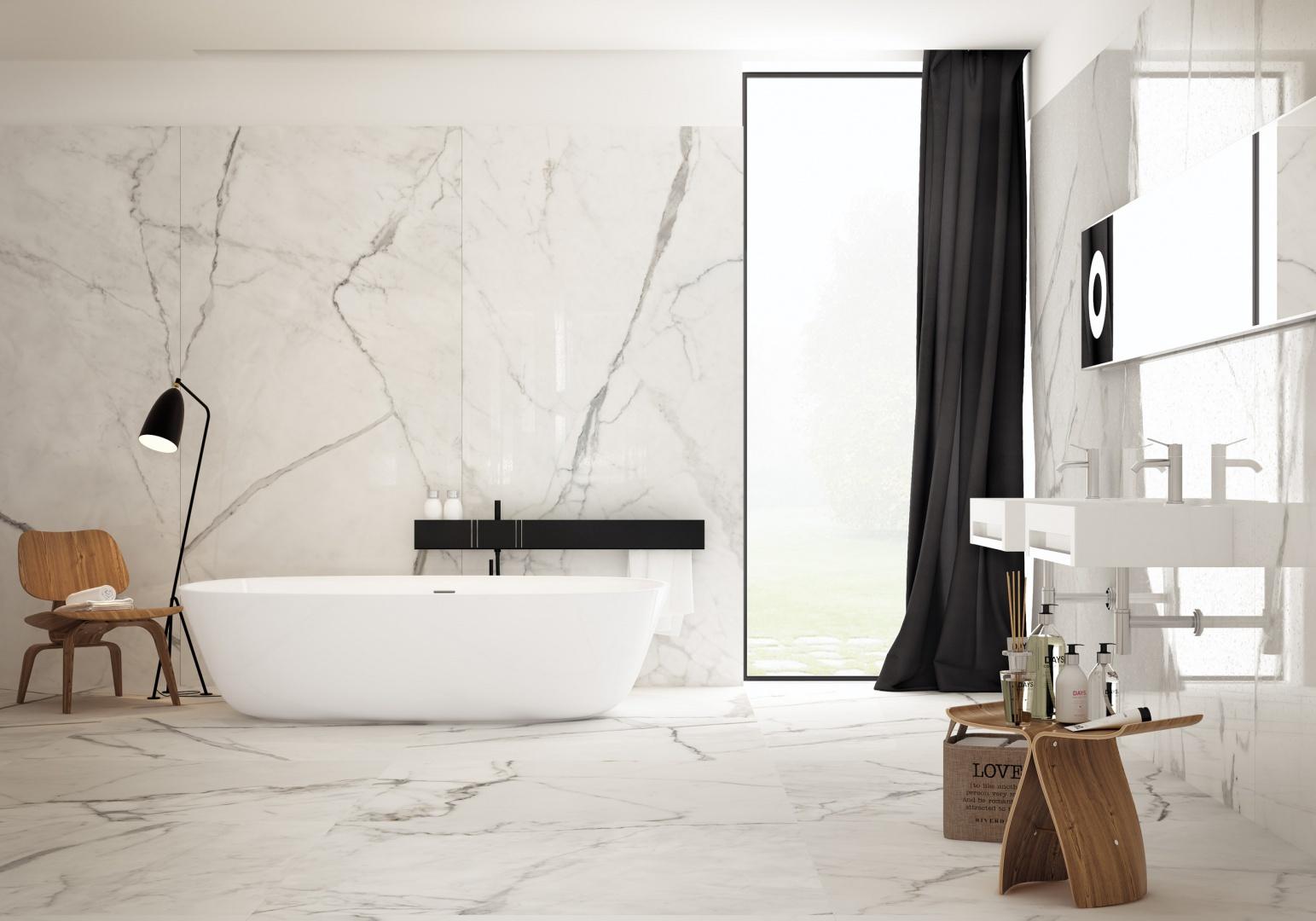 Jak biały marmur - płytki ceramiczne Infinity firmy Fondovalle. Fot. Fondovalle.