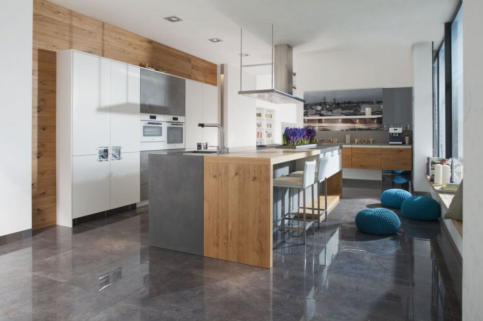 Nowoczesna kuchnia, będąca Kuchnia pod sam sufit   -> Kuchnia Pod Sufit