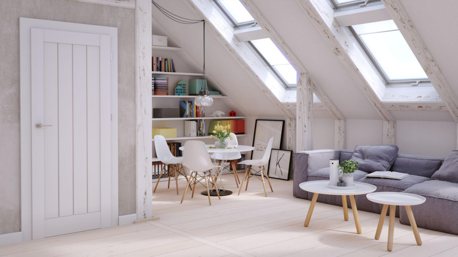 Podstawą oraz tłem dla kolekcji Uppsala są jasne, minimalistyczne wnętrza. Wnętrza, w których czuć inspirację skandynawskim stylem, a intrygujące rozwiązania podkreślają tylko jego charakter. Dzięki zastosowaniu ciekawych łączeń z szybą lub płyciną oraz z uwagi na dobór kolorystyki oklein drzwi stanowią piękne dopełnienie przestrzeni. Fot. Vox.
