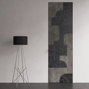 Wzornictwo oparte na geometrii, dążeniu do syntetycznego ujmowania form oraz poszukiwaniu piękna w funkcji przedmiotu użytkowego to założenia, które przyświecały projektowi drzwi PIU Design. Projekt Tomasz Augustyniak. Fot. PIU Design.