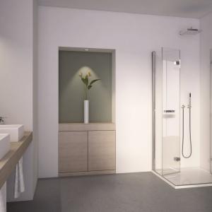 Możliwość zamówienia na wymiar – kabina prysznicowa Swihg-Line F SLF2 D+G firmy SanSwiss. Fot. SanSwiss.