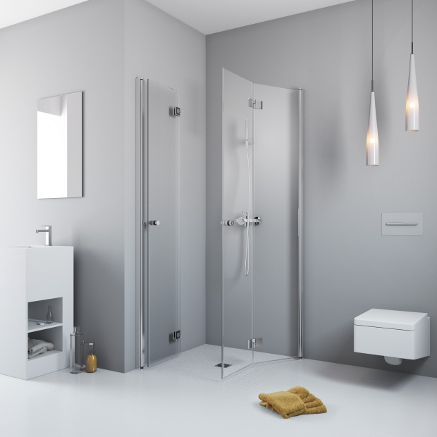 Składane kabiny prysznicowe - 12 modeli do małych łazienek