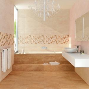 Z delikatnym wzorem kojarzącym się z piaskowcem – płytki ceramiczne Bremen firmy Undefasa. W kilku odcieniach beżów. Fot. Undefasa.