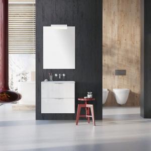 Minimalistyczna forma sprawia, iż meble Ambio można dopasować do każdej łazienki. Fot. Elita