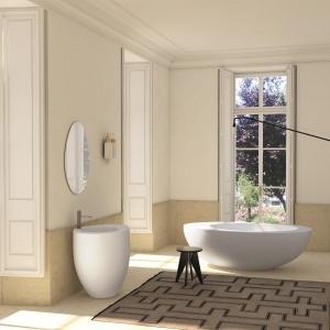 Z ceramiki – umywalka podłogowa Le Giare Ceramica Cielo. Fot. Ceramica Cielo.