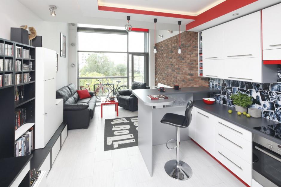 Kuchnię od salonu umownie Kuchnia otwarta na salon   -> Kuchnia I Jadalnia W Jednym