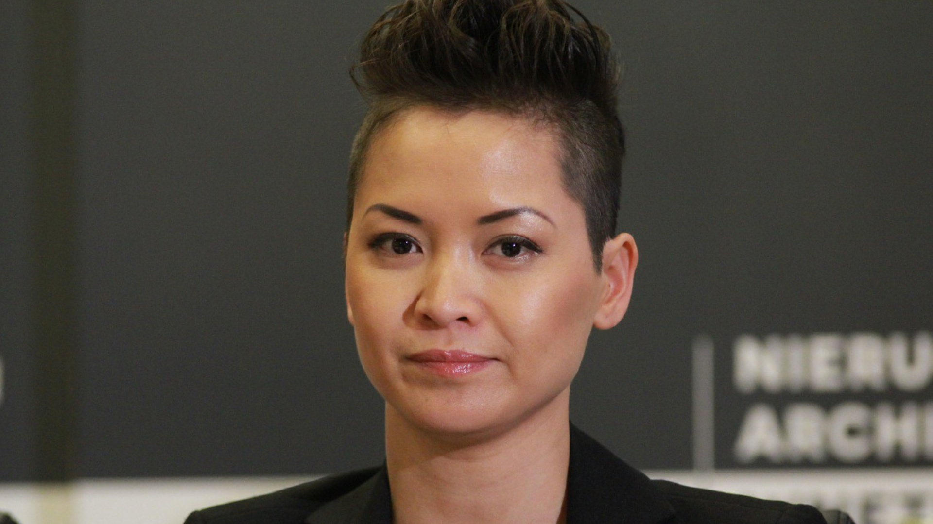 Natalia Nguyen podczas konferencji prasowej zapowiadającej 4 Design Days.