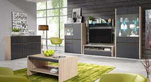Nowoczesna meblościanka to doskonały pomysł na przechowywanie w salonie. Dodatkowo doskonale skomponuje się z wystrojem przestrzeni.