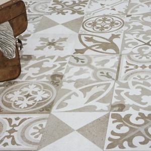 Jak cementowe kafle sprzed lat - płytki ceramiczne jak patchwork Retro firmy Aparici. Fot. Aparici.