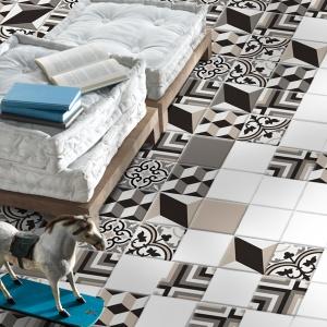 Z efektem patchworku trójwymiarowego - płytki ceramiczne Masselo firmy Decocer. Fot. Decocer.