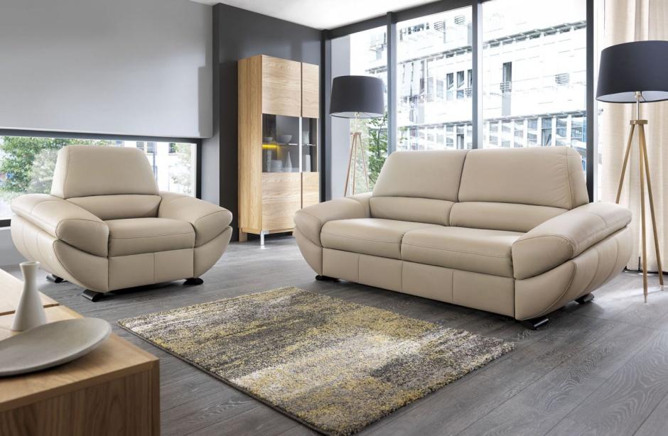 Sofa z funkcją spania Novel z oferty marki Bydgoskie Meble. Fot. Bydgoskie Meble.