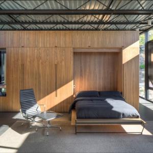 Łóżko w ścianie: zobacz zaskakujący pomysł na sypialnię