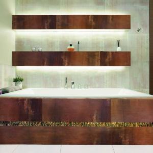 Jak pomalowane brązową akwarelą – płytki ceramiczne Impressive marki Ceramstic. Fot. Ceramstic.