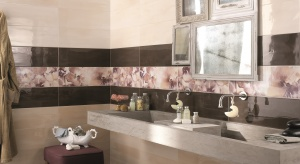 Ich rozmyte odcienie inspirują projektantów płytek ceramicznych. Można wybrać paski, kwiaty czy wzory jak pomalowane kartki papieru.
