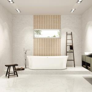 Jak biały marmur - płytki ceramiczne Vilaro firmy Aparici. Fot. Aparici.
