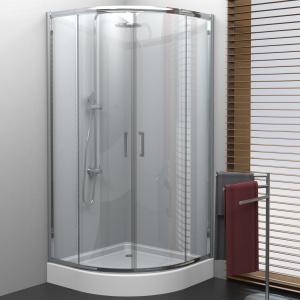 Brodzik o uniwersalnej wysokości z kabiną prysznicową Varia firmy New Trendy. Fot. New Trendy.