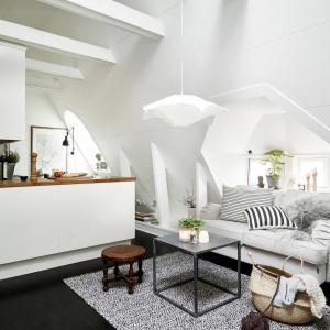 W tym skandynawskim mieszkanku oferowanym przed agencję Stadshem udało się urządzić stylowe wnętrze na zaledwie 30 metrach. Fot. Stadshem.se.