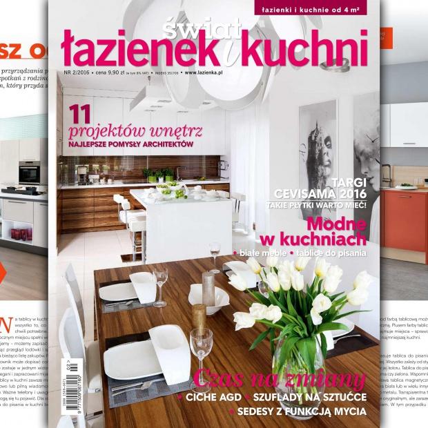 Magazyn Świat Łazienek i Kuchni – nowy numer 2-2016 już w sprzedaży!