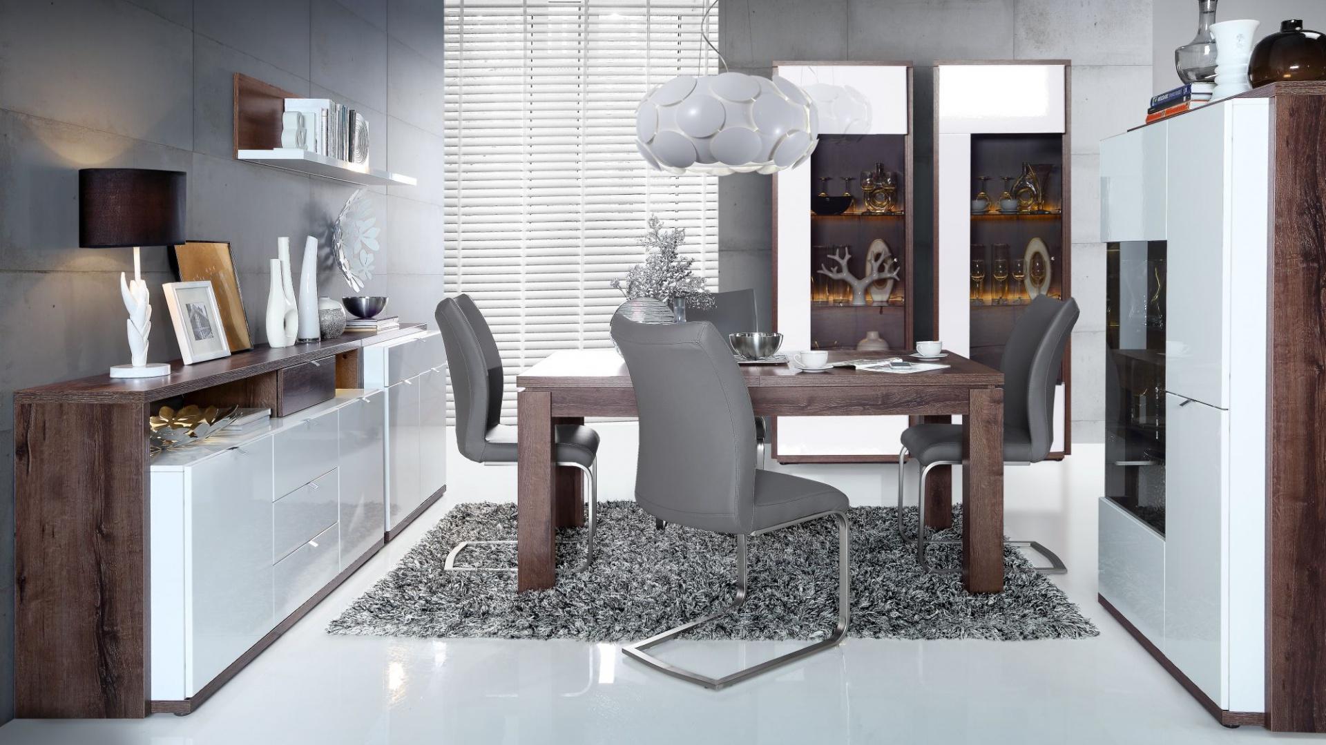 Meble do salonu i jadalni z kolekcji Alcano z oferty marki Forte. Fot. Forte.