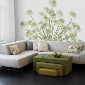 Piękne rośliny ozdobią ścianę salony - to tapeta/naklejka z kolekcji Photoart marki Mr Perswall. Fot. Mr Perswall.
