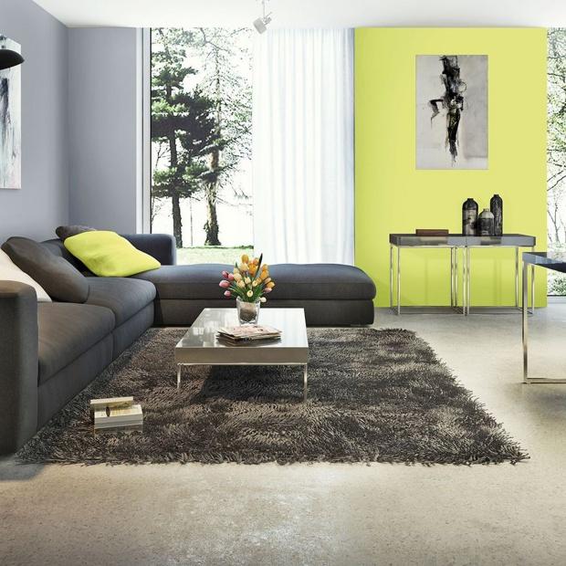 Wiosna w salonie. Ściany w świeżych kolorach [inspiracje]