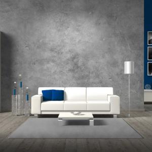 Masa o efekcie betonu do złudzenia przypomina prawdziwy cement. Nadaje surowy, a przy tym bardzo elegancki wygląd ścianom. Fot. Francesco Guardi Collezione.