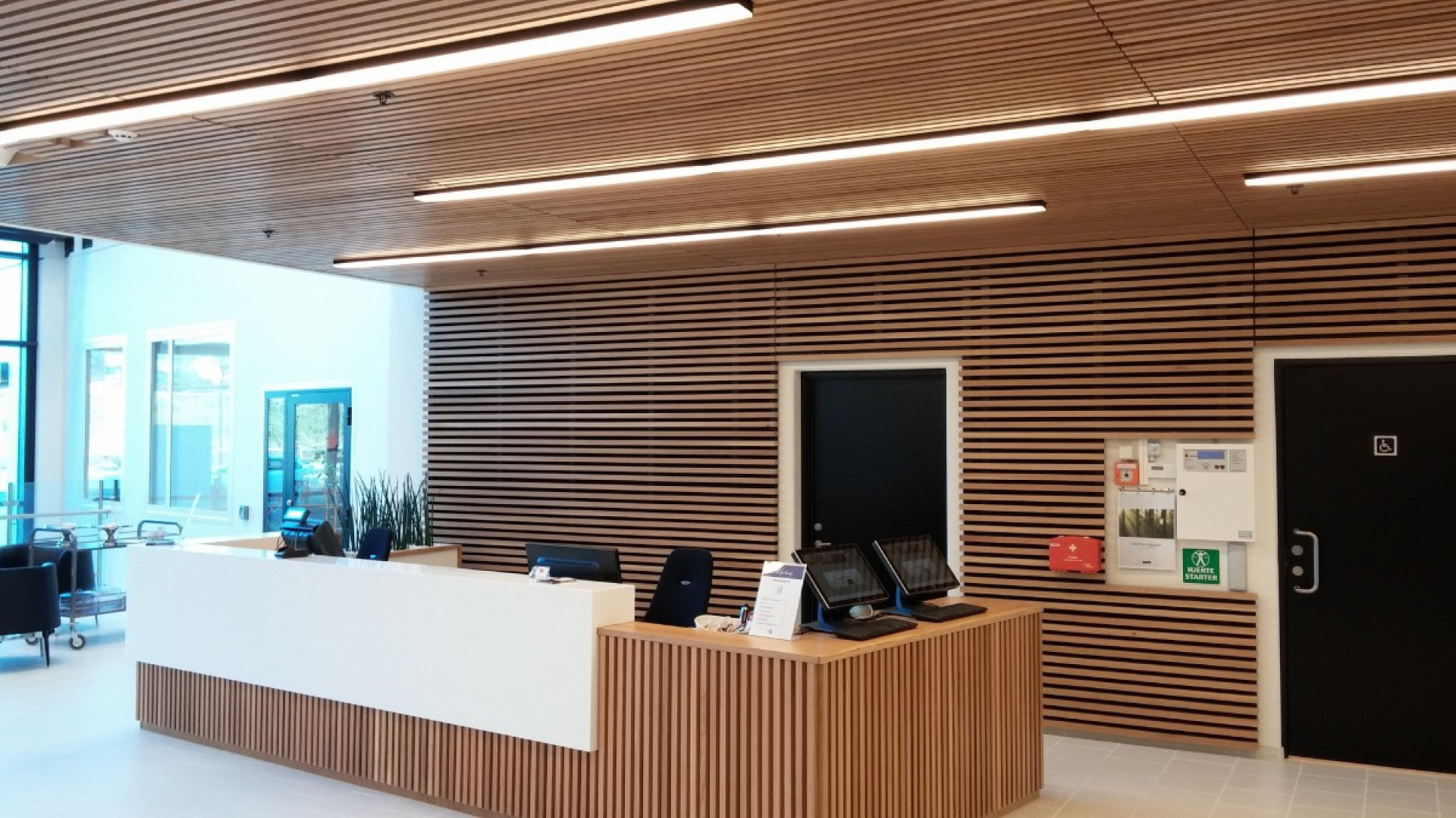 Recepcja Stavanger Business Park w Norwegii. Fot. Trilux