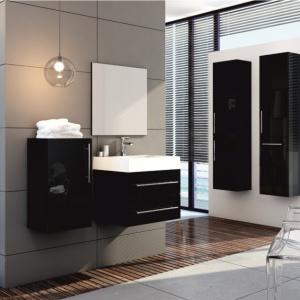 Eleganckie meble w ciemnych kolorach - zobacz zestawy do łazienki