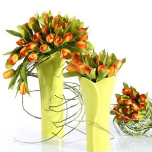 Bukiet żółtych tulipanów z oferty kwiatowych dekoracji marki Eurofirany. Fot. Eurofirany